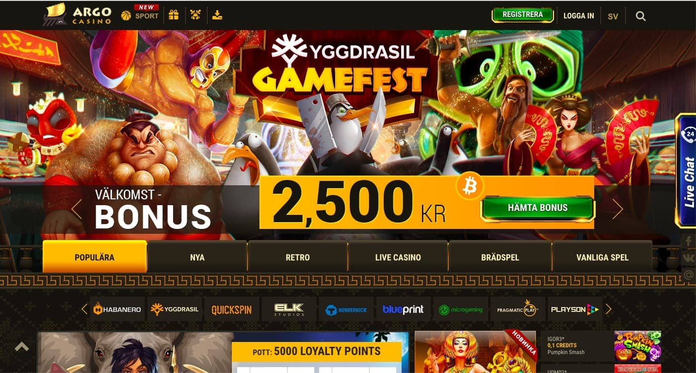 официальный сайт argo casino бонус коды